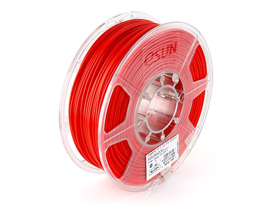 Printer ESUN 3D Filament Red 3 milímetros PLA 1KG rolo