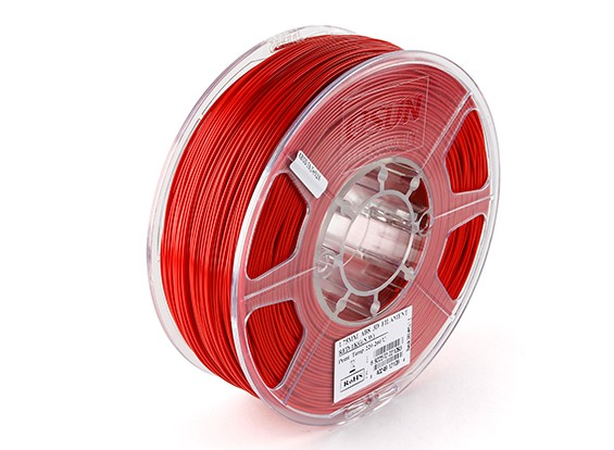 Printer ESUN 3D Filament Red 1,75 milímetros ABS 1KG rolo