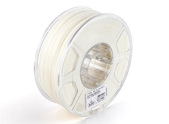 Printer ESUN 3D Filament Natural 1,75 milímetros ABS 1KG rolo