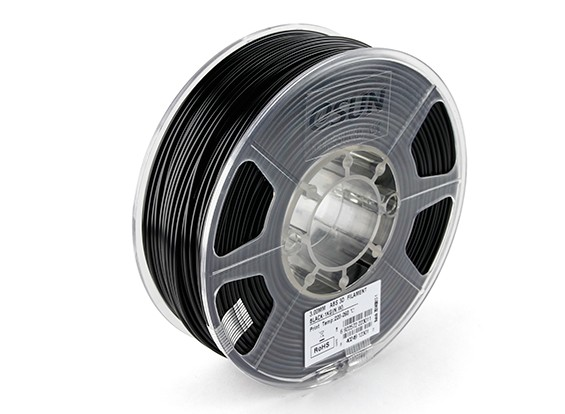 ESUN 3D Filament Printer Preto 3 milímetros ABS 1KG rolo