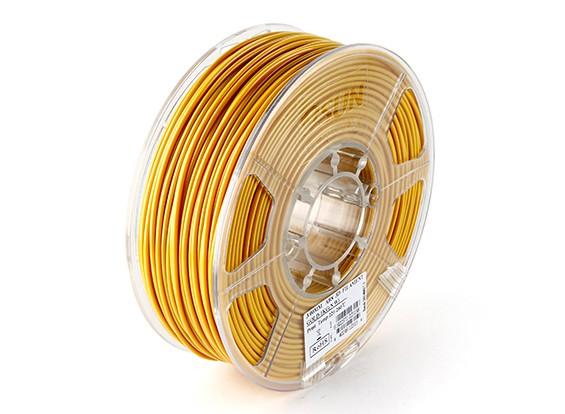 Filament Printer ESUN ouro 3D 3 milímetros ABS 1KG rolo