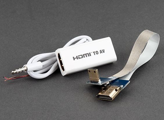 HDMI / Mini HDMI para um módulo de conversão A / V (1 Set)