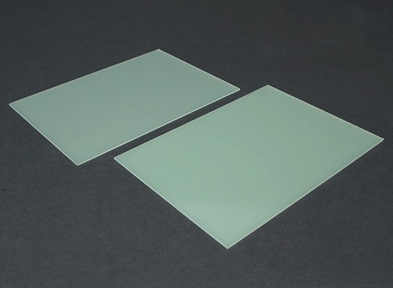 Folha FR4 Epoxy Vidro 210 x 148 x 1,5 mm (2pc)
