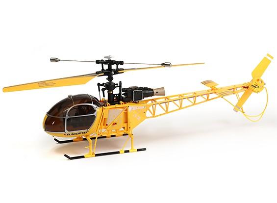 WLToys V915 2.4G 4CH Helicopter (pronto para voar) - Amarelo