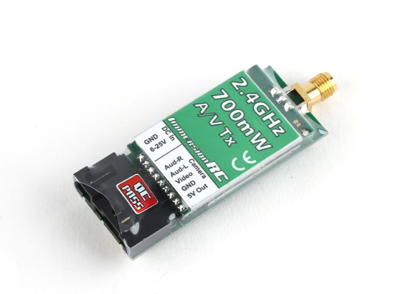 ImmersionRC 700mW 2.4GHz Áudio / Vídeo Transmissor (US Version)