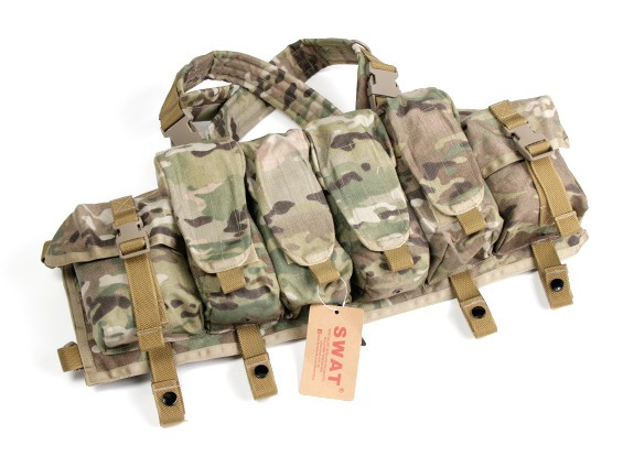 SWAT Cordura AK Frente Peito Bolsas (MultiCam)