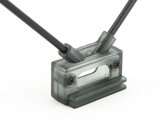 HobbyKing Receptor Antena Mount dupla 45deg com montagem direta ou Clipe