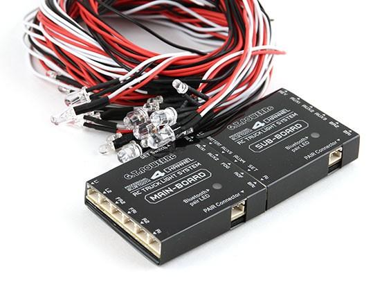 Sistema de iluminação Bluetooth 4 Channel RC Truck