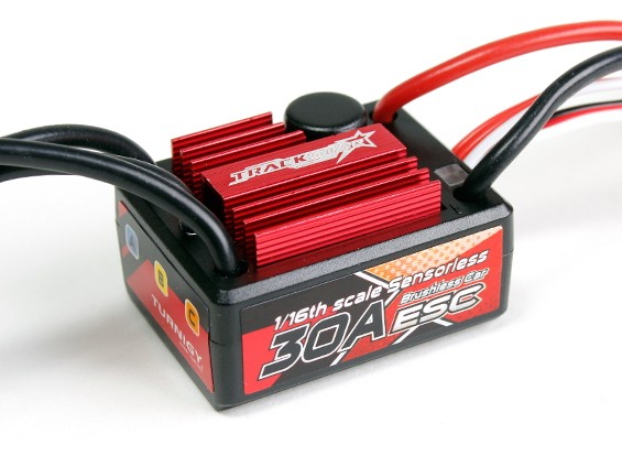 Trackstar 30A 1 / 16th escala Sensorless Brushless ESC