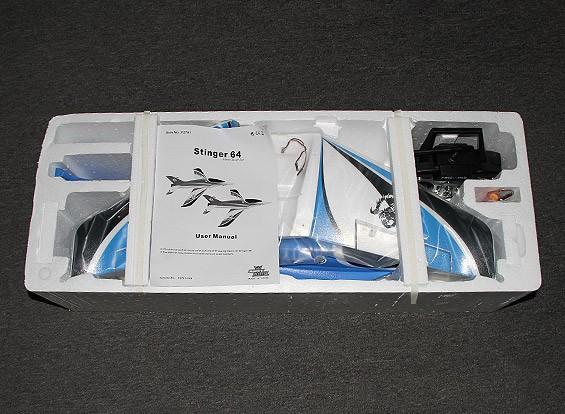 RISCO / DENT Stinger 64 EDF Desporto Jet 700 milímetros azul EPO (RTF - Modo 1)