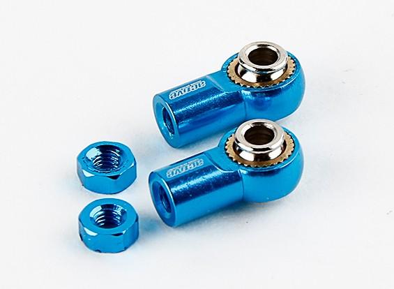 Ativo 18 milímetros Hobby alumínio Universal Ballend (azul)