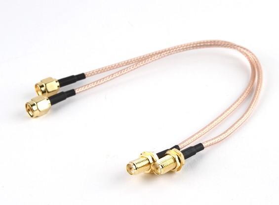 RP-SMA plug <-> RP-SMA Jack 200 milímetros RG316 Extensão