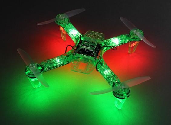HobbyKing FPV250 V4 Fantasma verde Edição LED Night Flyer FPV Drone (verde) (Kit)