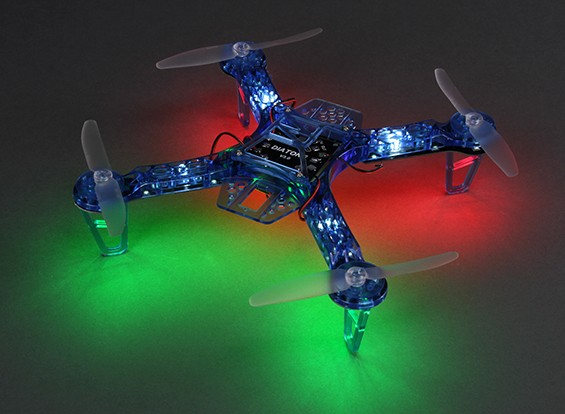 HobbyKing FPV250 V4 azul do fantasma Edição LED Night Flyer FPV Drone (azul) (Kit)