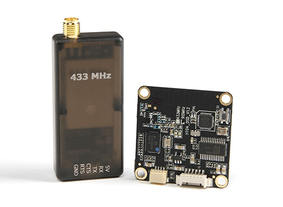 Micro HKPilot Módulo Radio Telemetry com On Screen Display (OSD) da unidade - 433MHz.