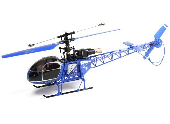 WLToys V915 2.4G 4CH Helicopter (pronto para voar) - Blue