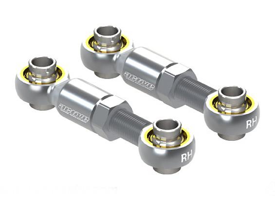 Ativo Hobby alumínio ajustável Direcção Rod End 20 ~ 25 mm (Silver)
