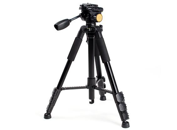Q-111 de alumínio leve Tri-pod para monitores FPV e câmeras