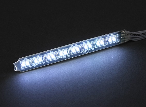 White LED Light Strip com 12 Flashing Modos e controle remoto