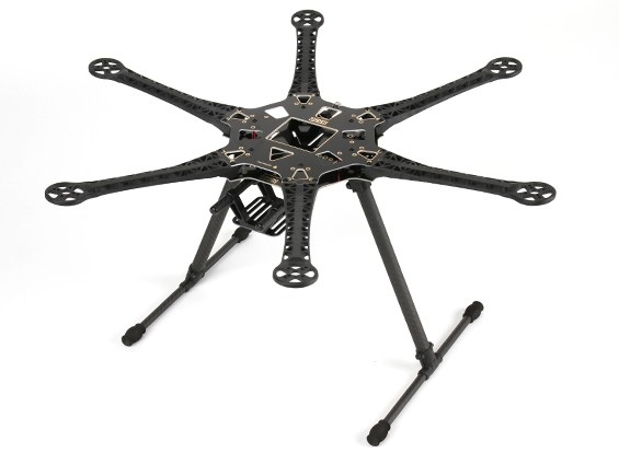 S550 Hexcopter Kit Quadro Com 550 milímetros PCB Integrado (Black)