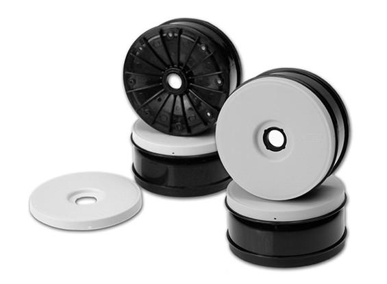 JConcepts Inverse 1 / 8th Buggy Wheel - Branco