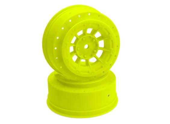 JConcepts Hazard - SC10B - roda dianteira - amarelo