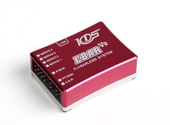 KDS ebar V2 Flybarless Sistema de Controle de vôo com cartão de programa