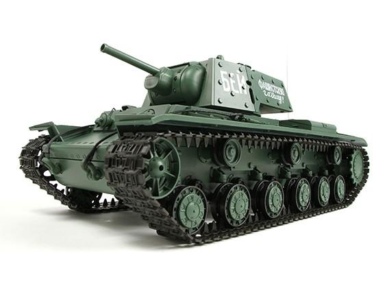KV-1S Ehkranami RC Tanque RTR w / Airsoft / Smoke & Tx (plug UE) (Warehouse UE)