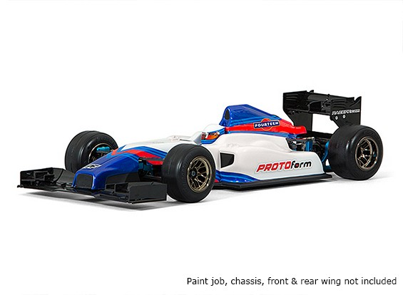 Protoforma F1-Quatorze Clear Body para 1/10 Fórmula 1