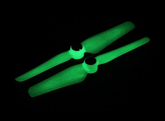5 x 3.2 Auto aperto da hélice por Multi-Rotor CW & CCW rotação (1 par) brilham no escuro