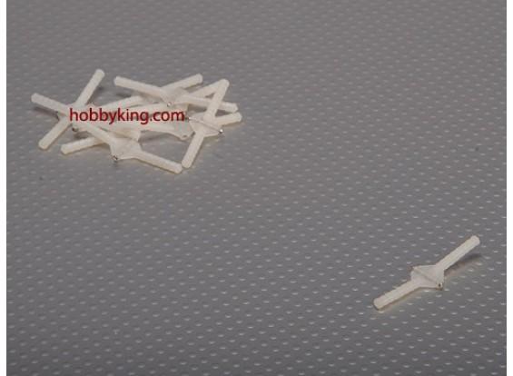 Super Light Pivot & Round Dobradiças D2.5xW10xL43mm (10pcs / set)