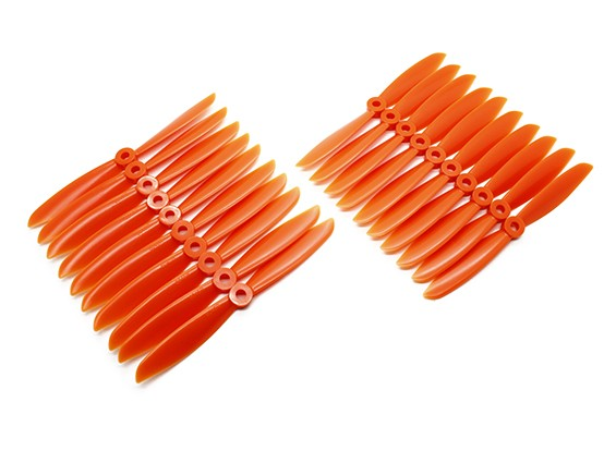 Gemfan Multirotor tanquinho massa 6x4.5 Orange (CW / CCW) (10 pares)