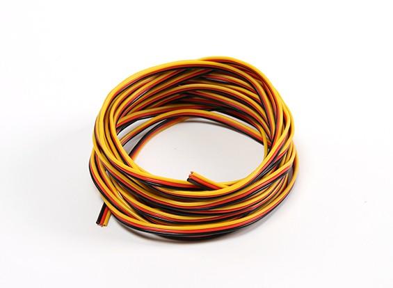 22AWG Servo fio 5mtr (vermelho / preto / amarelo)