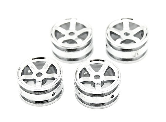 5 Spokes Rim (4pcs) - Kit OH35P01 1/35 rastreador de Rock