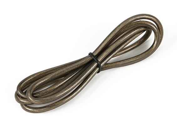 Turnigy Pure-Silicone fio 12AWG 1m (preto translúcido)
