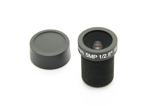 "3,6 mm IR / 5MP Board Lens F2.0 1 / 2.5 ""e 130 °"