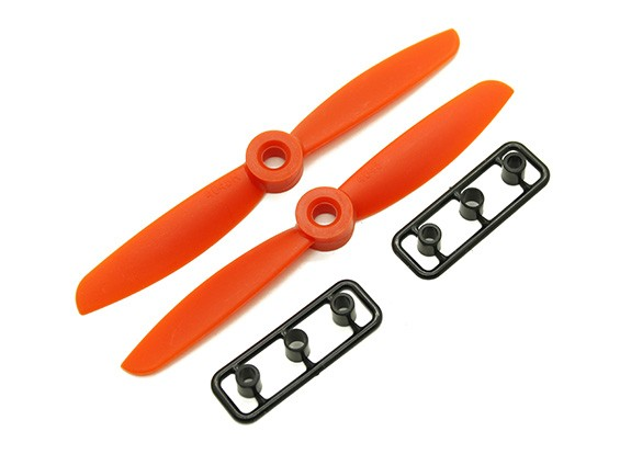Gemfan 4045 GRP / Nylon Hélices CW / CCW Set (laranja) 4 x 4,5