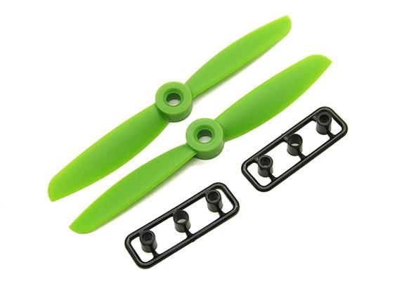 Gemfan 4045 GRP / Nylon Hélices CW / CCW Set (verde) 4 x 4,5