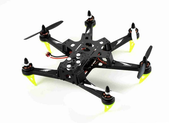 Spedix S250AH Carbon Fiber Drone w / CC3D PDB Motor ESC Hélices (ARF)