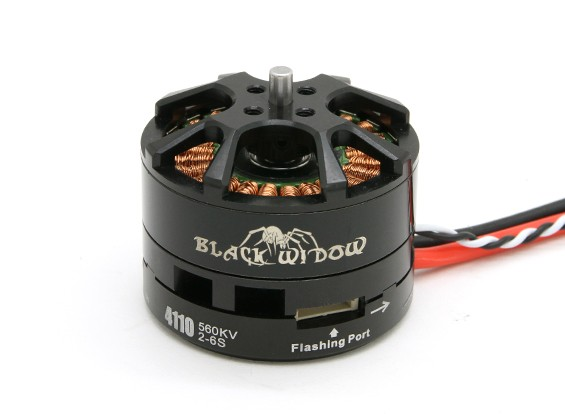 Black Widow 4110-560Kv com built-in ESC CW / CCW