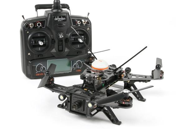 Walkera Runner 250 FPV Corrida Quadrotor w / Modo 2 Devo 7 / Bateria / Carregador / Camera / VTX / OSD (RTF)