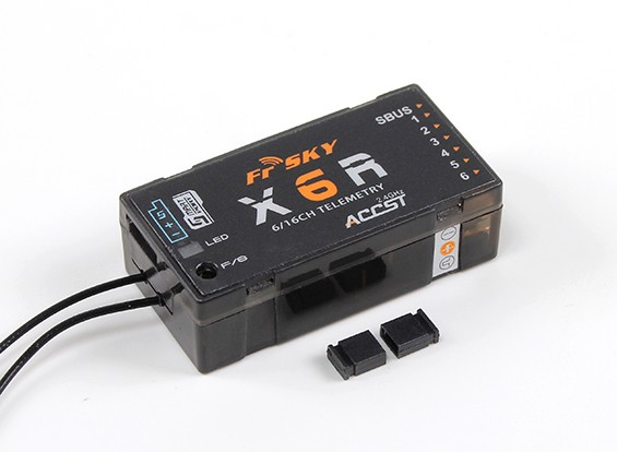 FrSky X6R 6 / 16Ch S.BUS ACCST Telemetria receptor W / Smart Porto (2015 versão EU)