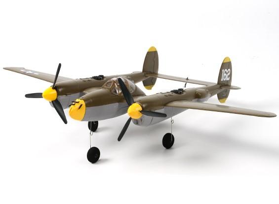 P-38 Lightning gêmeo 525 milímetros w / Lipoly Bateria (DSM2 Compatível)