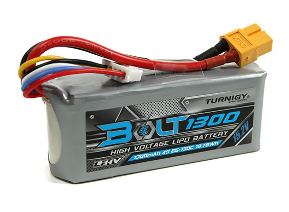 Turnigy Parafuso 1300mAh 4S 15.2V 65 ~ 130C High Voltage Lipoly Pack (LiHV)