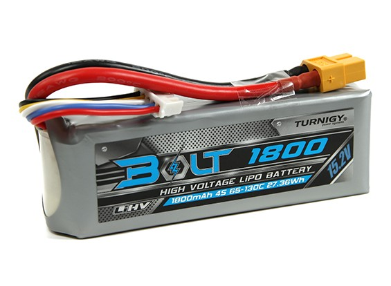 Turnigy Parafuso 1800mAh 4S 15.2V 65 ~ 130C High Voltage Lipoly Pack (LiHV)
