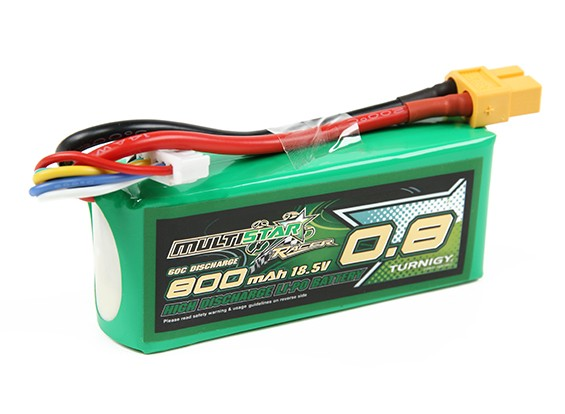 Multistar Racer Série 800mAh 5S 60C Lipo Pack (ouro Spec)