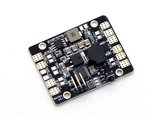 Matek Sistemas de Potência Distribuição 5 em 1 LED Controle de iluminação, LED Alarme de Baixa Tensão & Power Hub V3