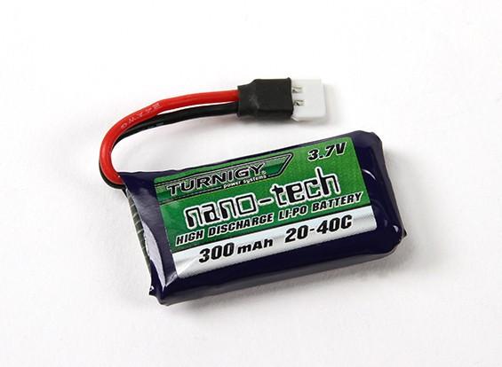 Turnigy nano-tecnologia 300mAh 1S 20 ~ 40C Lipo Pack (Losi Mini Compatible)