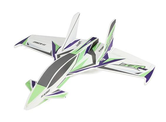 HobbyKing primeiro-Jet Pro - Glue-N-Go Series - Kit Foamboard (verde / roxo)
