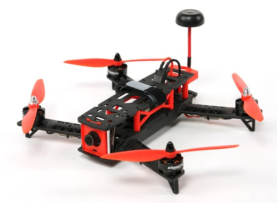 Kingkong 260 FPV Corrida Drone Plug & Play (Red)
